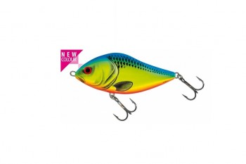 Salmo slider sinking chartreuse blue 5 cm