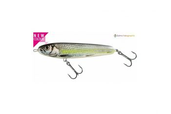 Salmo sweeper sinking silver chartreuse shad 10 cm