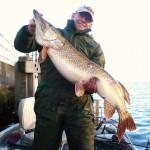Hengelsport Alkmaar metersnoek gevangen met sardine
